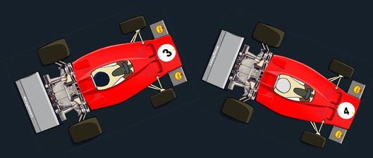 Arturo Francesco Merzario y los Ferrari 312B3 by Muneta & Cerracín