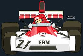 Niki Lauda - BRM P106E by Muneta & Cerracín