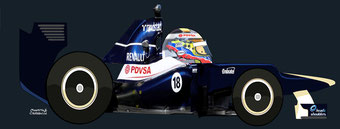Pastor Maldonado by Muneta & Cerracín - Williams FW34 - Renault V8