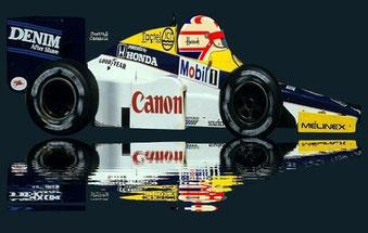 Nigel Mansell  by Muneta & Cerracín - Lotus 88 de doble chassis de 1981