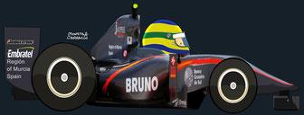 Bruno Senna by Muneta & Cerracín -HRT F1 Team: HRT F110 - Cosworth V8