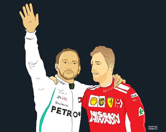 Hamilton Vs Vettel by Muneta & Cerracín