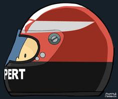 Helmet of Rupert Keegan by Muneta & Cerracín