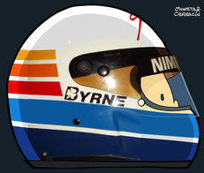 Helmet of Tommy Byrne by Muneta & Cerracín