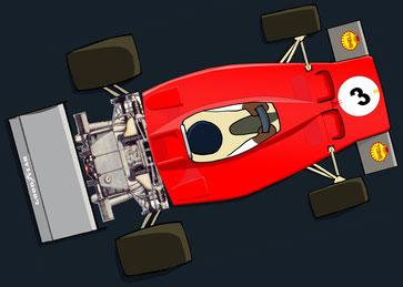 Jacques Bernard Ickx y su  Ferrari 312B 3by Muneta & Cerracín