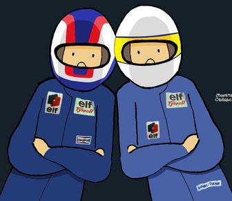 Jody Scheckter & Patrcik Depailler by Muneta & Cerracín