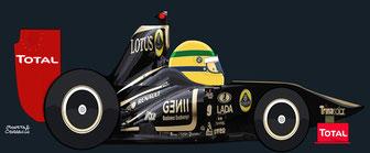 Bruno Senna by Muneta & Cerracín -  Lotus Renault GP - Renault R31 - Renault V8