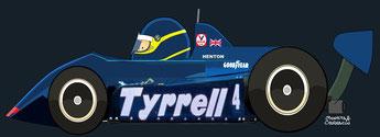 Slim Borgudd by Muneta & Cerracín - Tyrrell 011 - Ford Cosworth