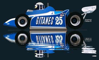 Tyrrell 008 by Muneta & Cerracín - Ligier JS11/15 - 1980