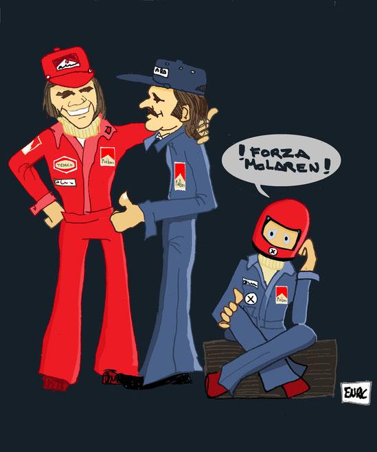 Fittipaldi, Regazzoni & Lauda