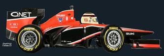 Max Chilton by Muneta & Cerracín - Marussia MR02
