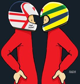 Ayrton Senna Vs Nigel Mansell by Muneta & Cerracín