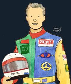 Bertrand Gachot  by Muneta & Cerracín - Bertrand Gachot del Central Park Venturi Larrousse con un Venturi LC92 - Lamborghini V12 fue sexto en Monaco en 1992