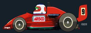 Rubens Barrichello by Muneta & Cerracín - West Surrey Racing Ralt RT35 Mugen-Honda F3. British F3 Championship Silverstone 1991.