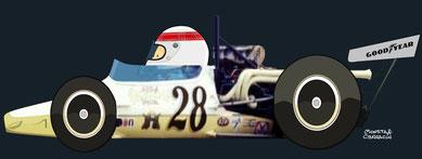 Jackie Stewart by Muneta & Cerracin - Jackie Stewart en la Can Am con su Lola.