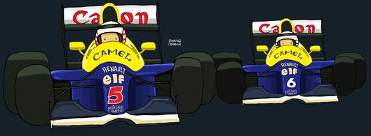 Nigel Mansell  by Muneta & Cerracín