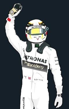 Lewis Hamilton byMuneta & Cerracín