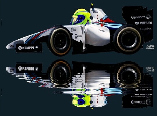 Felipe Massa by Muneta & Cerracín - Felipe Massa con su Williams FW36 - Mercedes