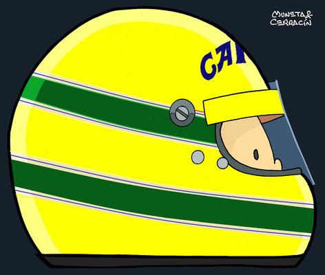 Helmet of Eddie Irvine by Muneta & Cerracín
