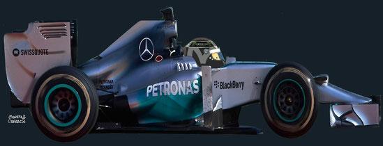Nico Rosberg by Muneta & Cerracín - Mercedes AMG Petronas F1 Team Mercedes F1 W05 Mercedes PU106A V6