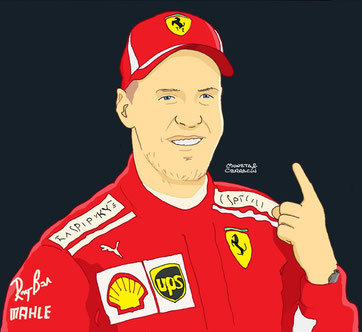 Sebastian Vettel by Muneta & Cerracín