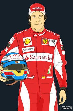Fernando Alonso by Muneta & Cerracin