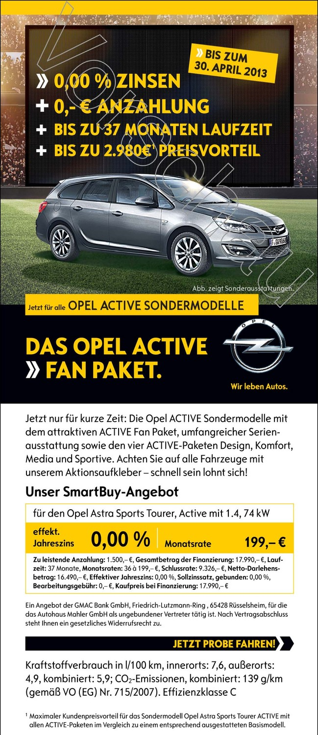 das opel active fan paket opel suzuki subaru. Black Bedroom Furniture Sets. Home Design Ideas