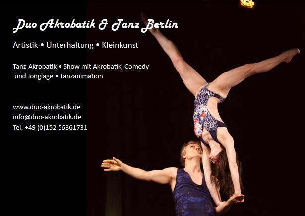 Partnerakrobatik  Acrobalance Duo Artistik Unterhaltung Kleinkunst Jonglage Comedy Berlin