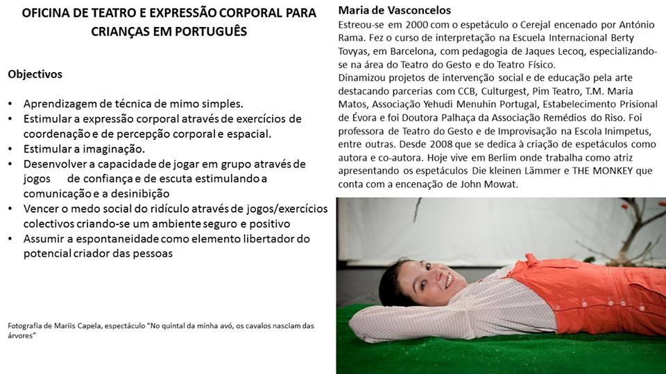 Workshop für Theater auf Portugiesisch