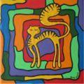 Katze bunt / 20x20cm / Fr. 140.00