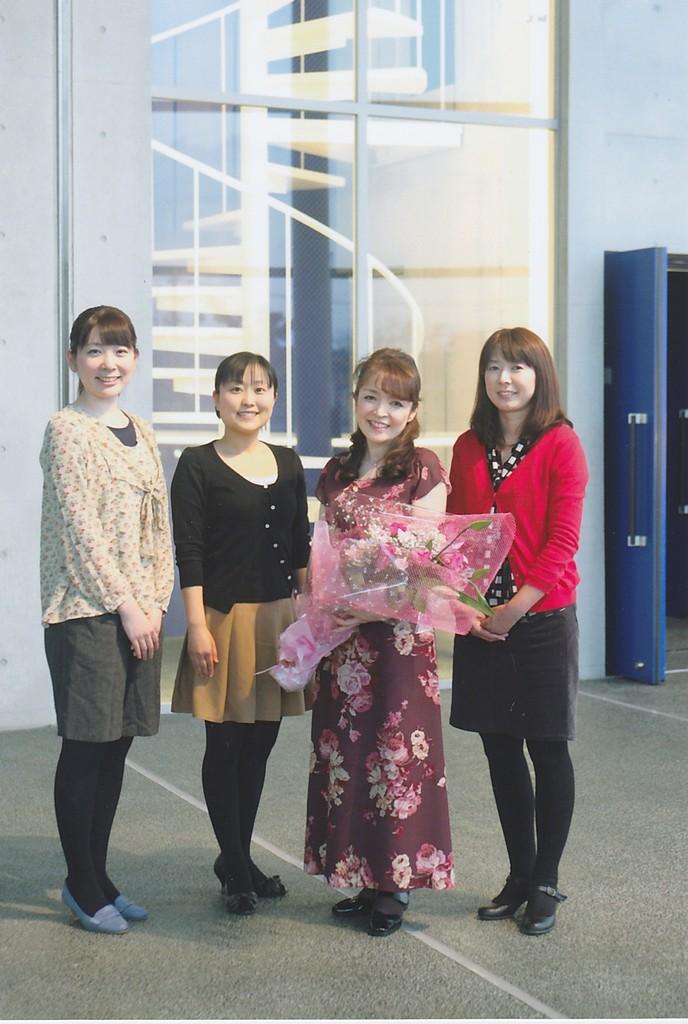 スタッフは卒業生の方々。みんなの憧れのお姉さんたちです。いつもありがとう!