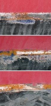 11 - Roscoff 2011 - triptyque 25 X 52 - sous cadre noir - 20 ex