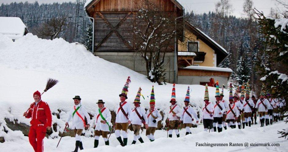 Brauchtum in der Steiermark - Faschingsrennen 2021 in Ranten