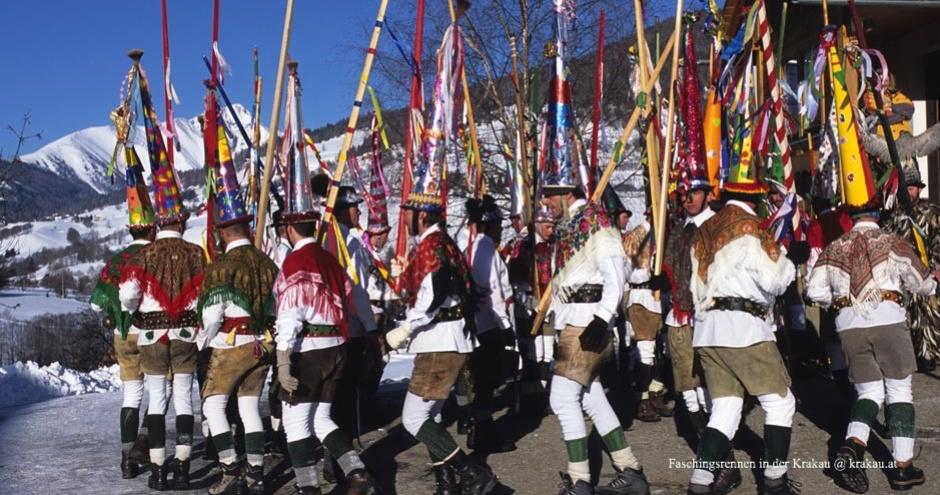 Brauchtum in der Steiermark - Faschingsrennen 2022 in der Krakau
