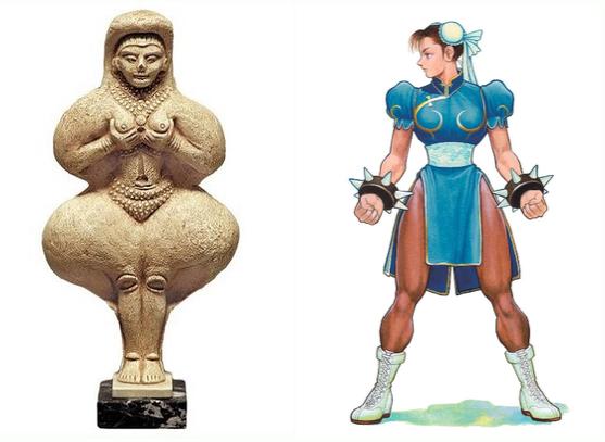 (左)イシュタール像       (右)あきまん様の春麗さん