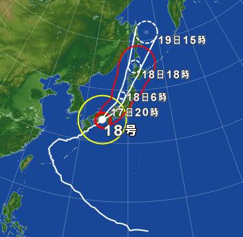 2017年9月17日 台風18号