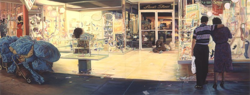 Leed's shoes, 2004, pastel, coll. Robert Berman, courtesy John Valadez