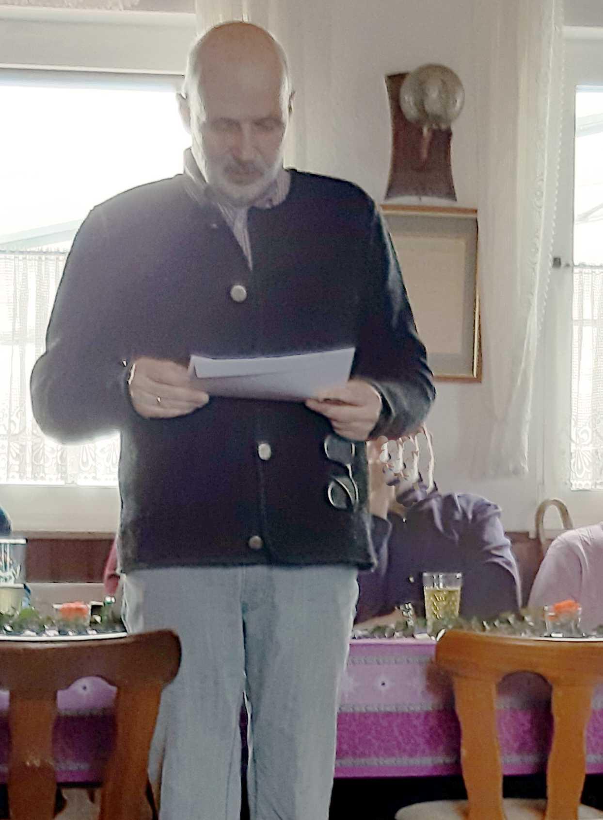 Bürgermeister Walther beim Grußwort