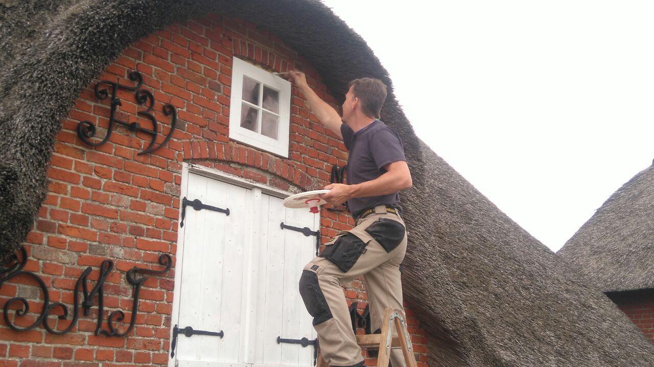 Björn erledigt die Restarbeiten