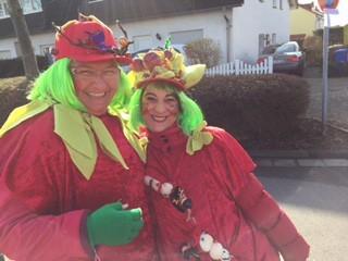 Unsere Vorsitzende Ingeborg Gritsch mit Angela Sicola.