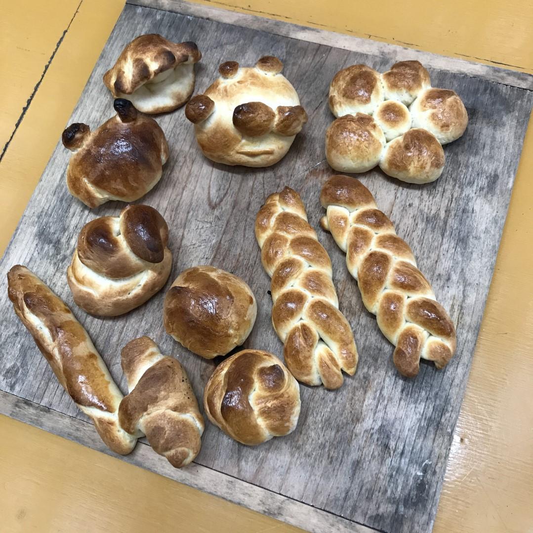 今年初めての石窯パン