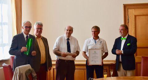 v.l.: Heuer, Müller, Lemmer, Windsio, Werner © 2019 VWE SH