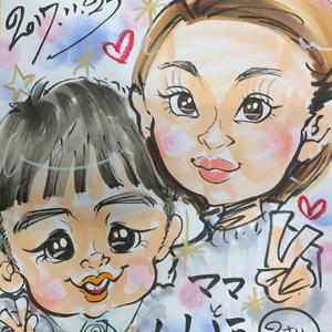 千葉県市川市に似顔絵師が出張