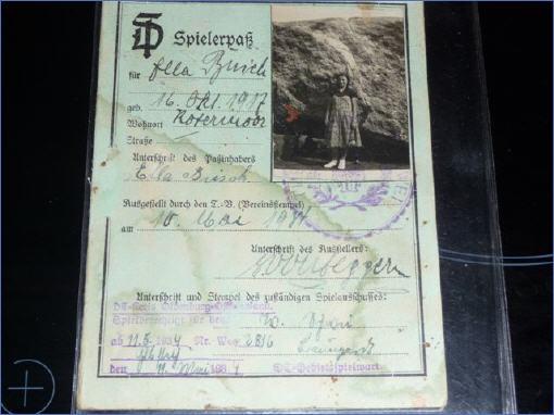 Mitgliedsausweis von Ella Gräfing
