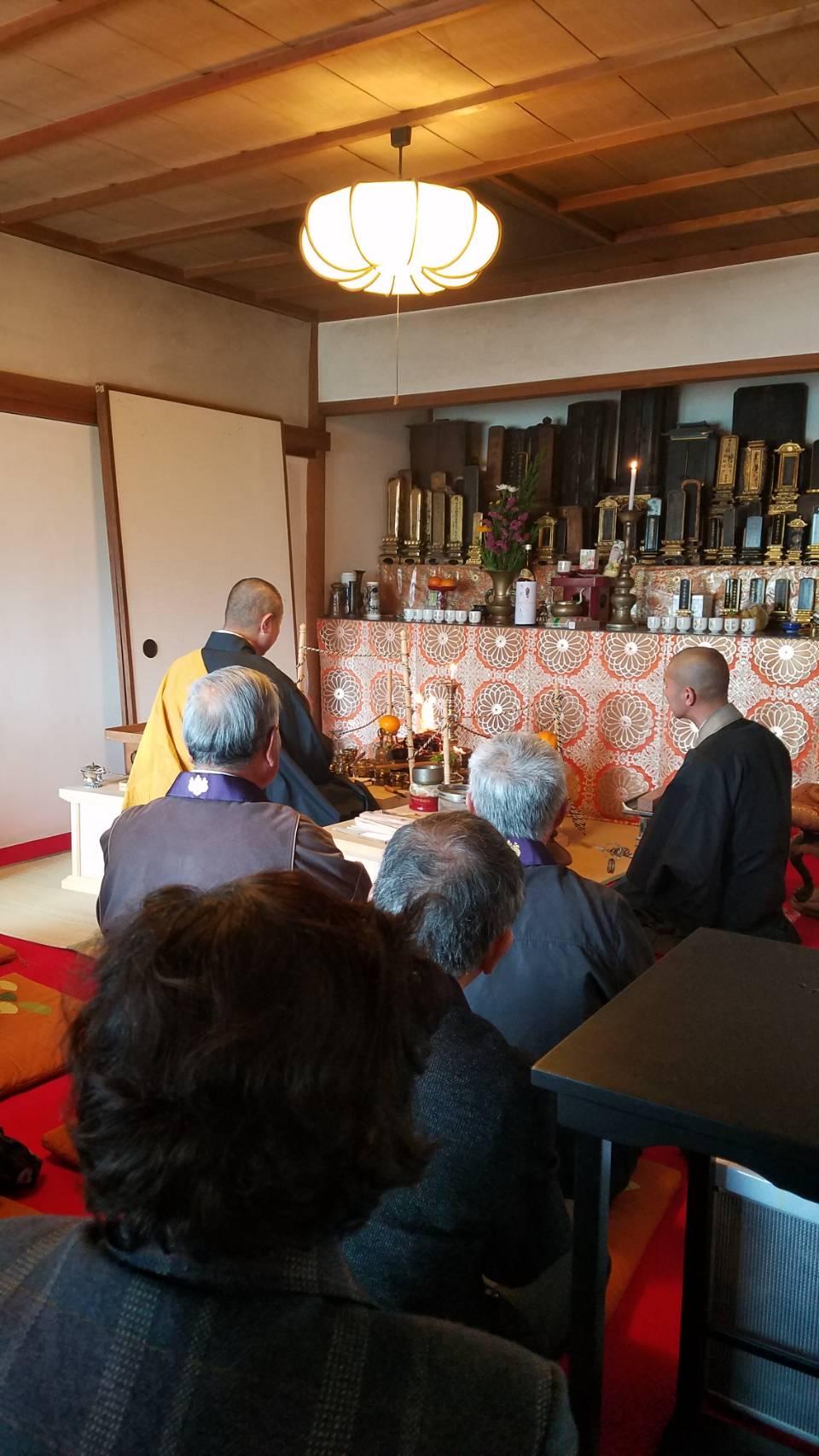 2019/3/15淡路市柳沢の本福寺での大日講の春の護摩祈願の法要です。