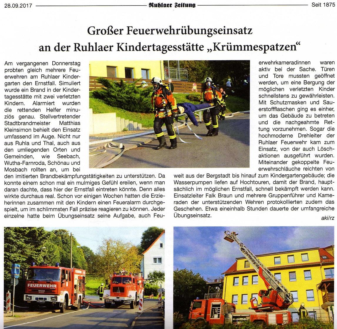 Auch die Ruhlaer Zeitung berichtete!