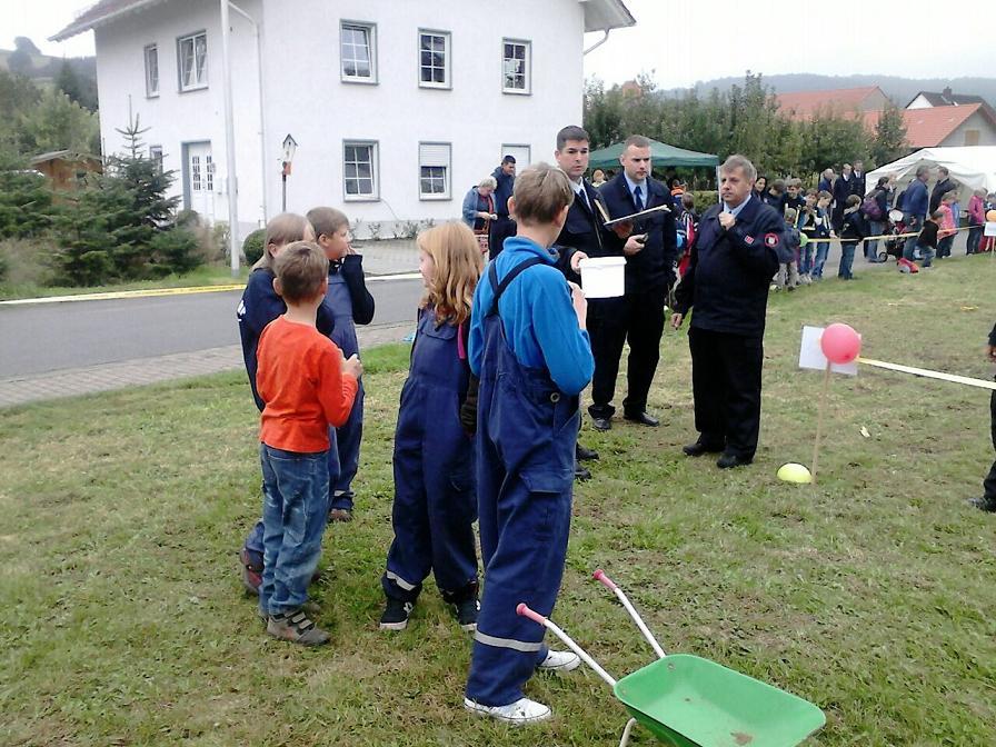 Aber Spaß hatten Alle bei den Wettbewerben unserer Partnerfeuerwehr in Wichmannshausen!