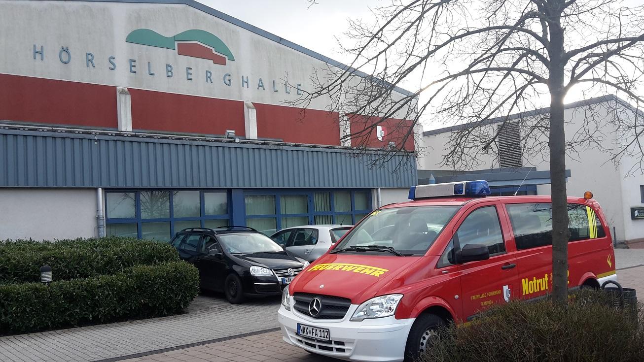 Übung Hörselberghalle und Brandsicherheitswachdienst zum Karneval!