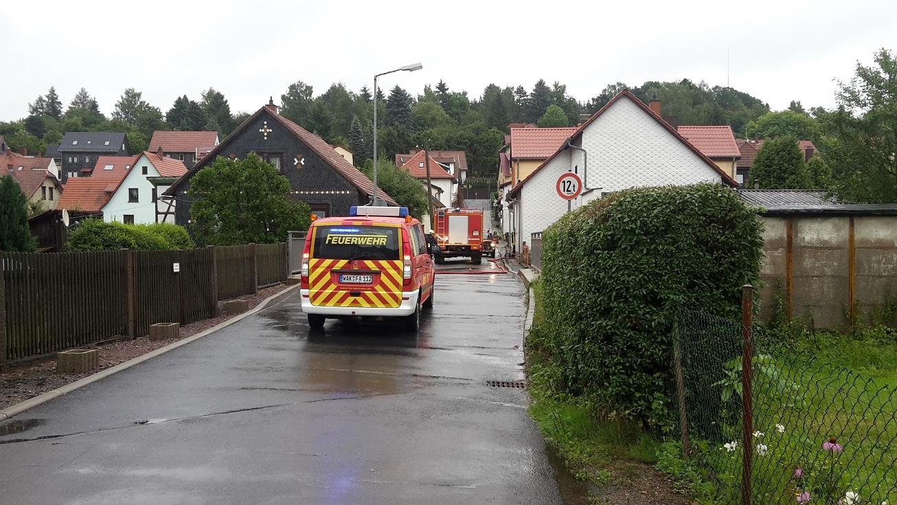 Hochwasser am 26.07.17 in der Wiesenstraße!