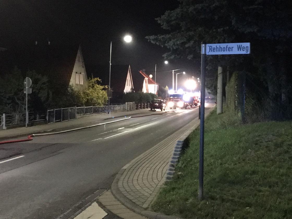 Kellerbrand am 04.11.2016 gegen 00:18 Uhr in der Ruhlaer Str.